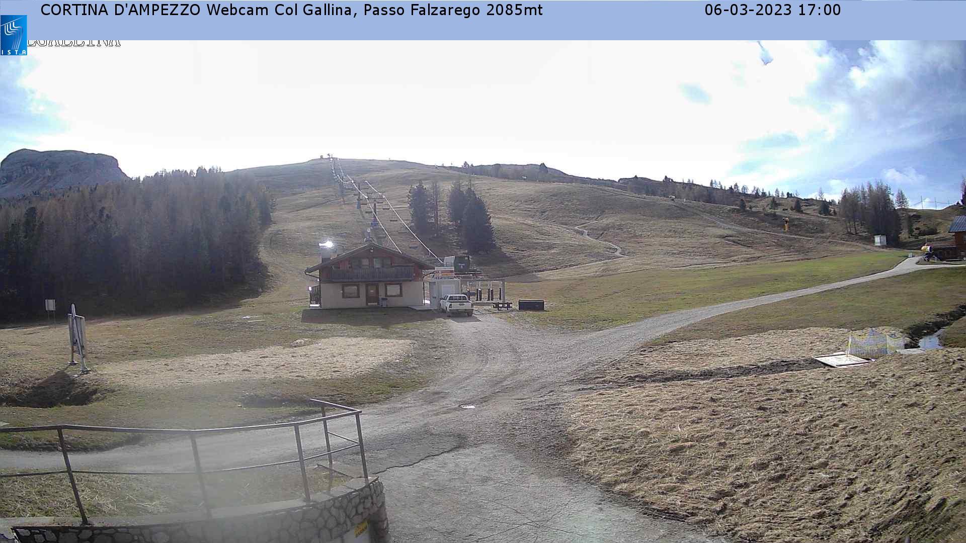 Live Cortina d'Ampezzo webcam - Col Gallina